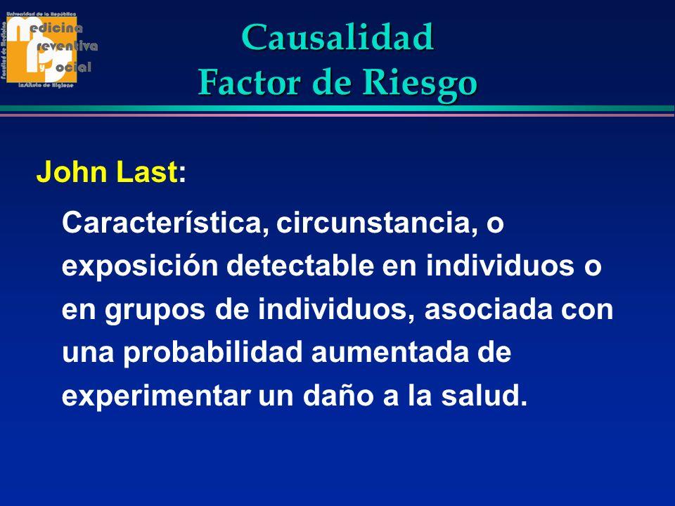 Causalidad Factor de Riesgo
