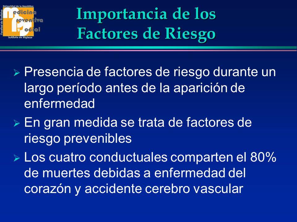 Importancia de los Factores de Riesgo
