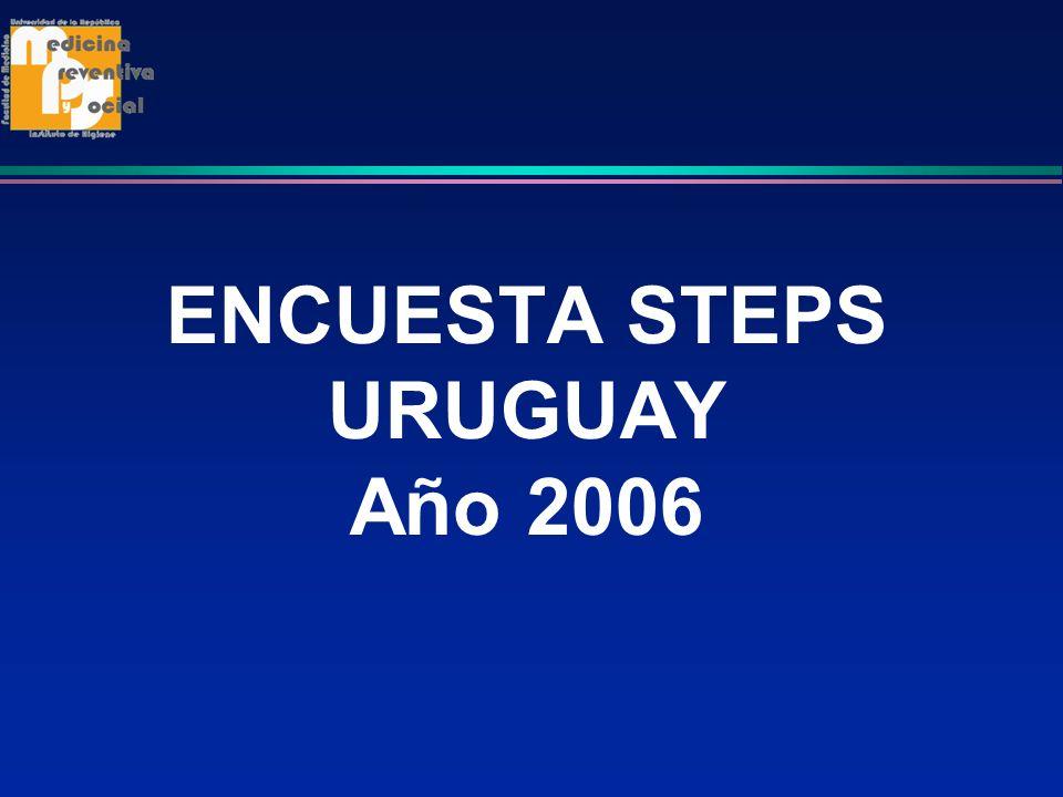 ENCUESTA STEPS URUGUAY Año 2006
