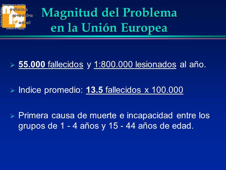 Magnitud del Problema en la Unión Europea