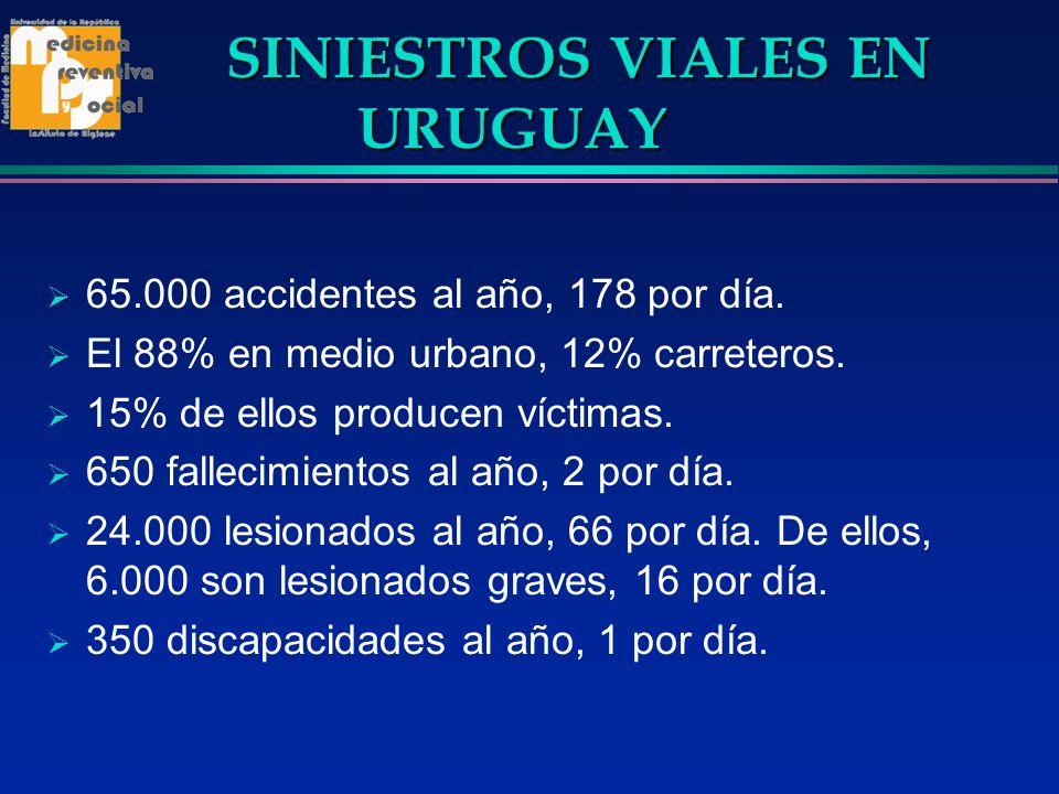 SINIESTROS VIALES EN URUGUAY