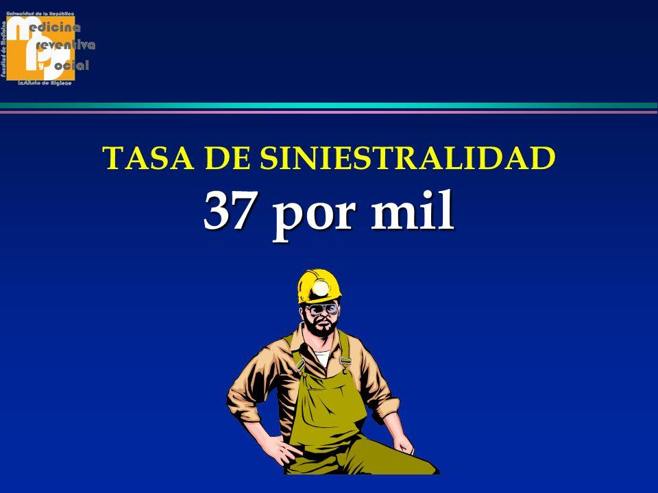 TASA DE SINIESTRALIDAD 37 por mil