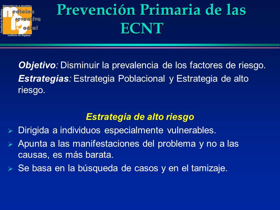 Prevención Primaria de las ECNT