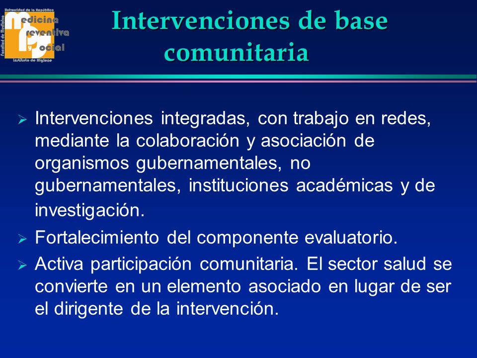 Intervenciones de base comunitaria
