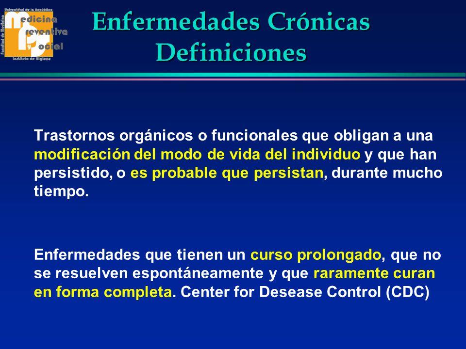 Enfermedades Crónicas Definiciones