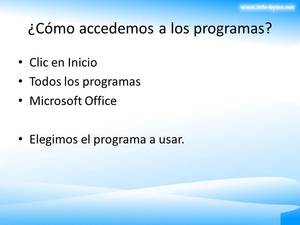 ¿Cómo accedemos a los programas