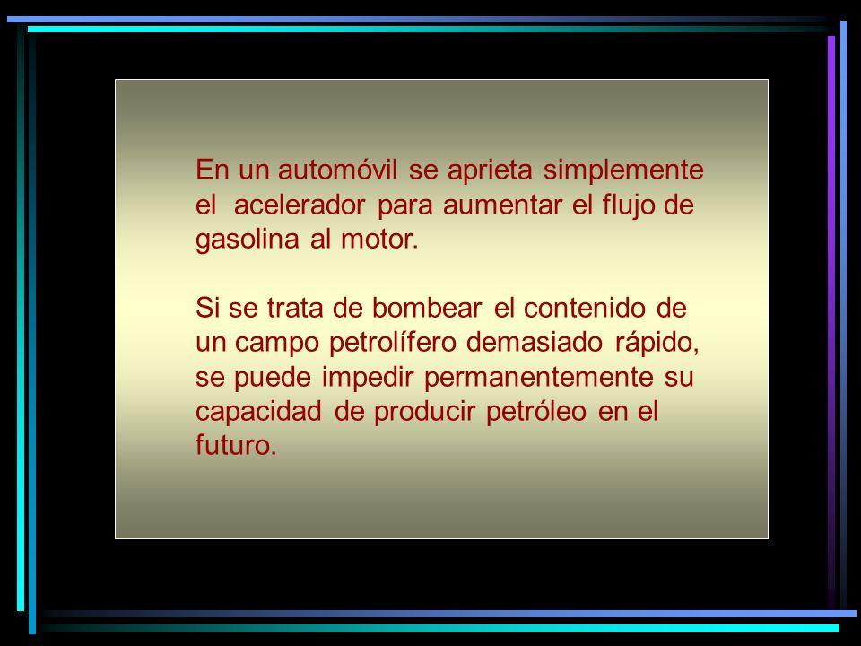 En un automóvil se aprieta simplemente el acelerador para aumentar el flujo de gasolina al motor.