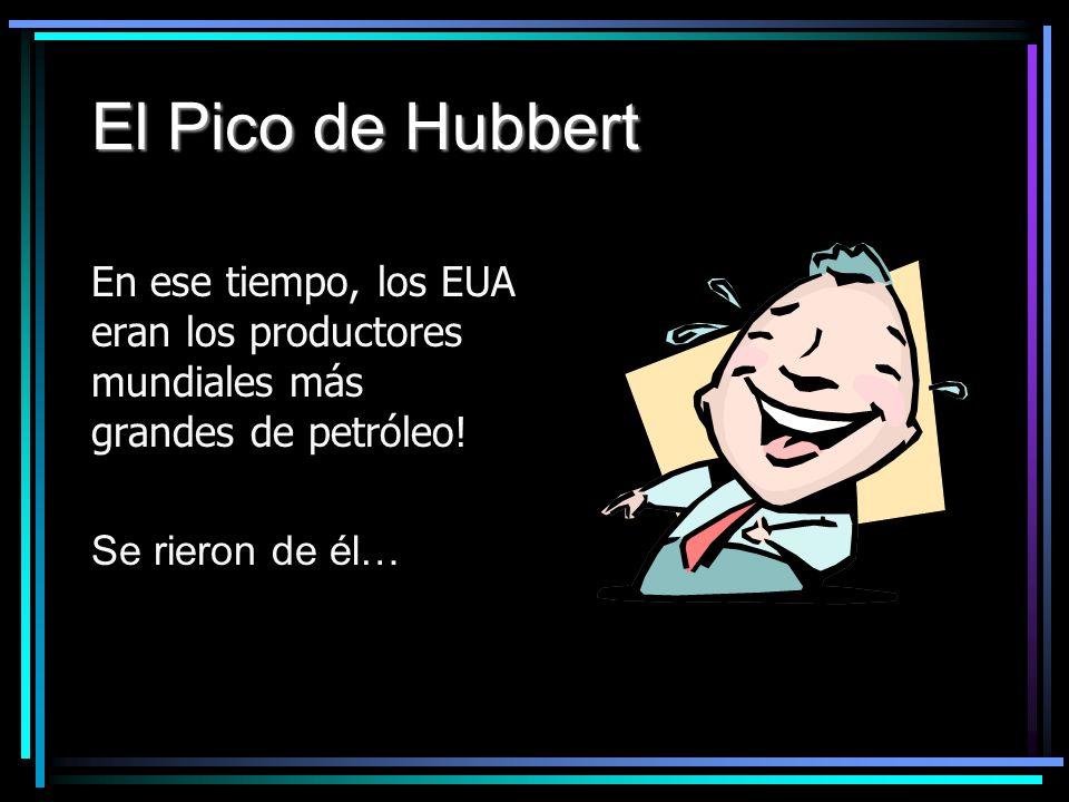 El Pico de Hubbert En ese tiempo, los EUA eran los productores mundiales más grandes de petróleo.