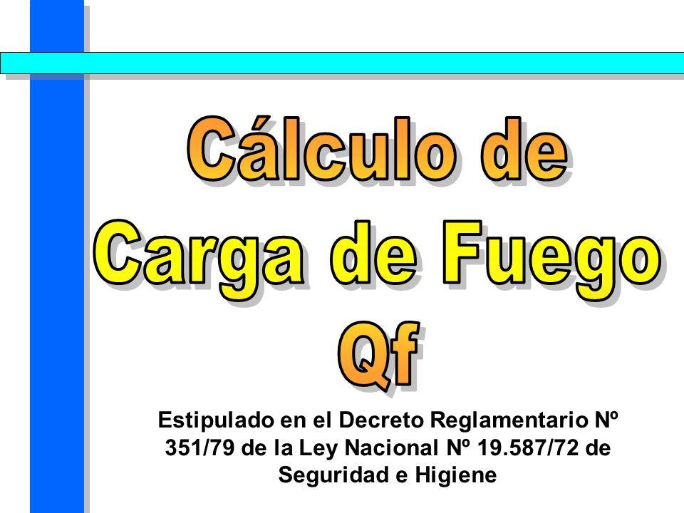 Cálculo de Carga de Fuego Qf