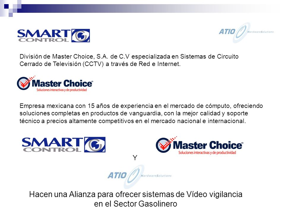 CURSO BASICO DE C.C.T.V. MASTER CHOICE, S.A. DE C.V.