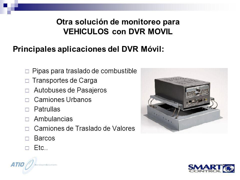 Otra solución de monitoreo para VEHICULOS con DVR MOVIL