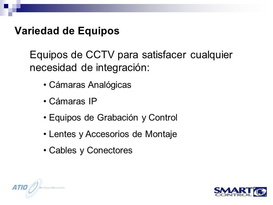 Equipos de CCTV para satisfacer cualquier necesidad de integración: