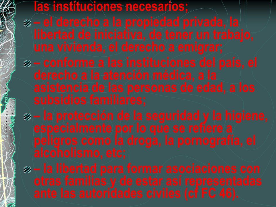 las instituciones necesarios;