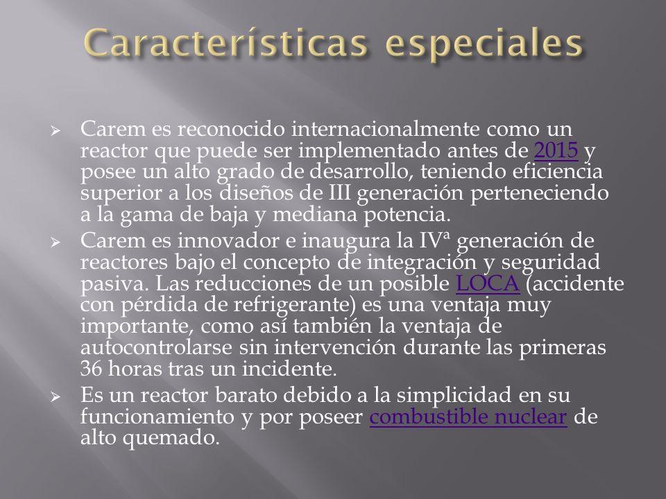 Características especiales
