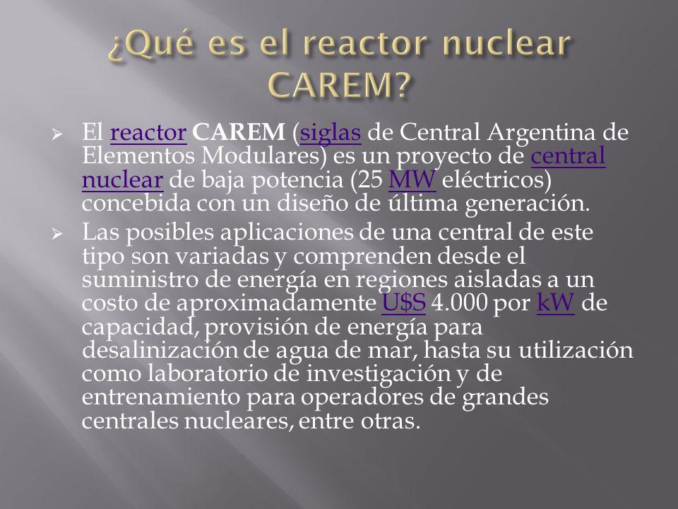 ¿Qué es el reactor nuclear CAREM