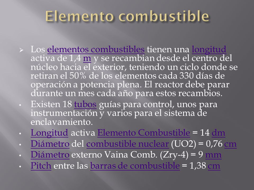 Elemento combustible