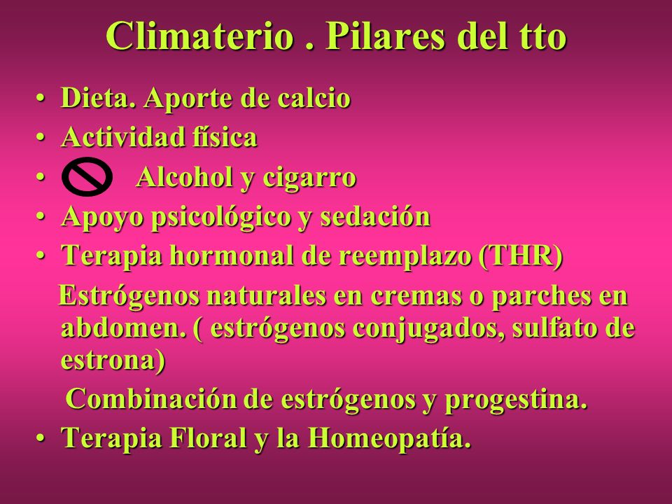 Climaterio . Pilares del tto