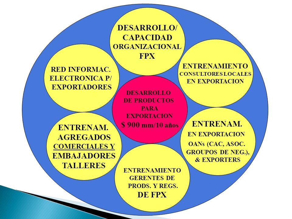 DESARROLLO/ CAPACIDAD FPX $ 900 mm/10 años ENTRENAM. ENTRENAM.