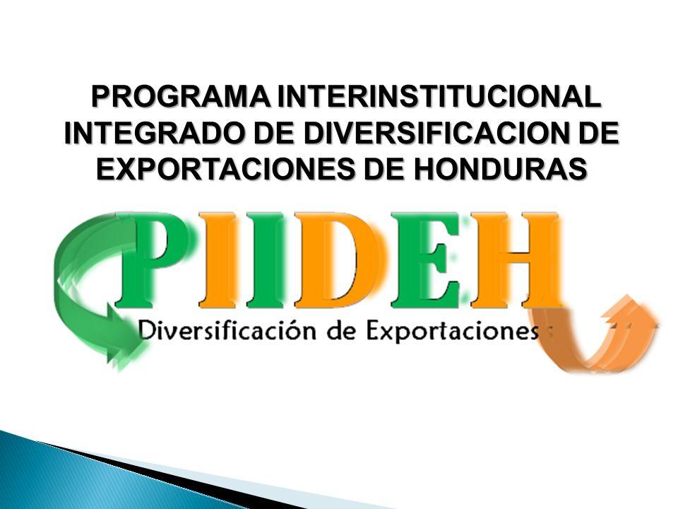 PROGRAMA INTERINSTITUCIONAL INTEGRADO DE DIVERSIFICACION DE EXPORTACIONES DE HONDURAS