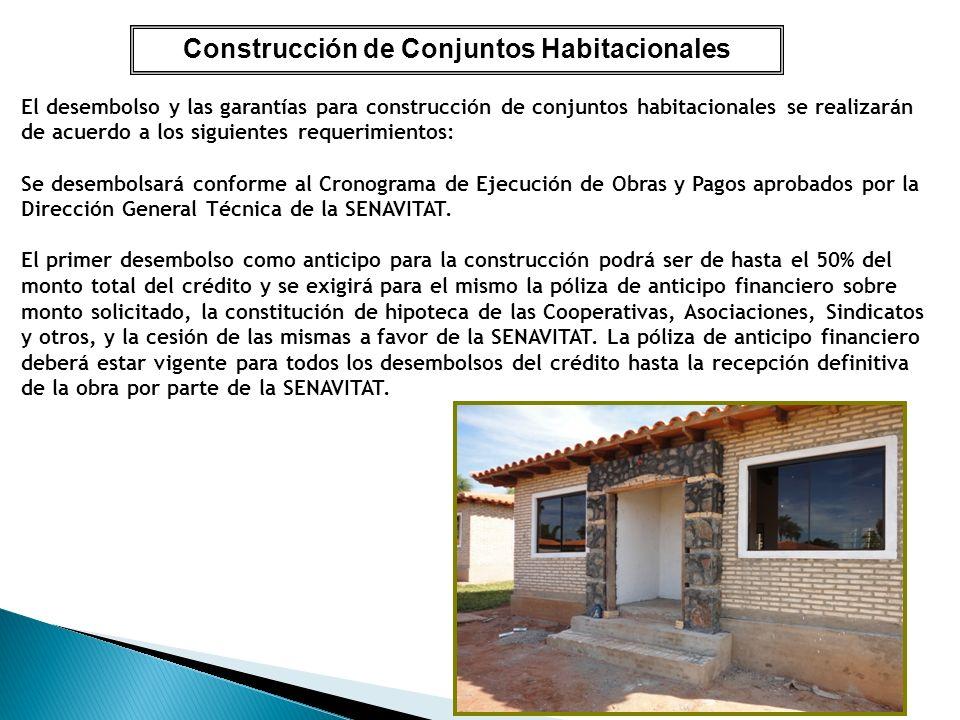Construcción de Conjuntos Habitacionales