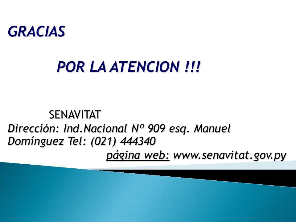 GRACIAS POR LA ATENCION !!! SENAVITAT