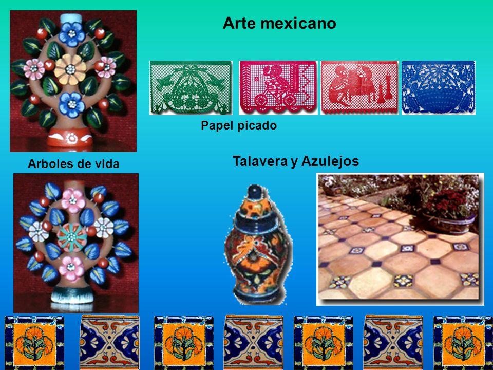 Arte mexicano Papel picado Talavera y Azulejos Arboles de vida