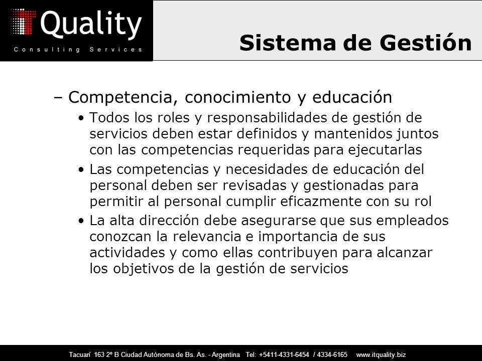 Sistema de Gestión Competencia, conocimiento y educación