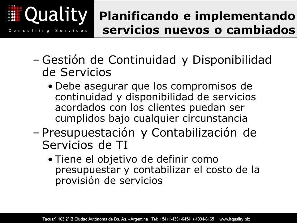 Planificando e implementando servicios nuevos o cambiados
