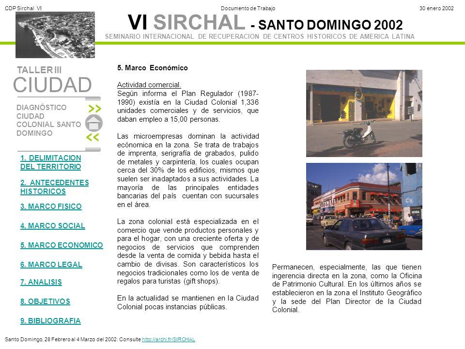 5. Marco Económico Actividad comercial.
