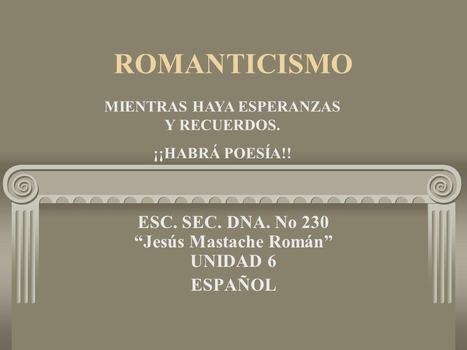 ESC. SEC. DNA. No 230 Jesús Mastache Román UNIDAD 6 ESPAÑOL