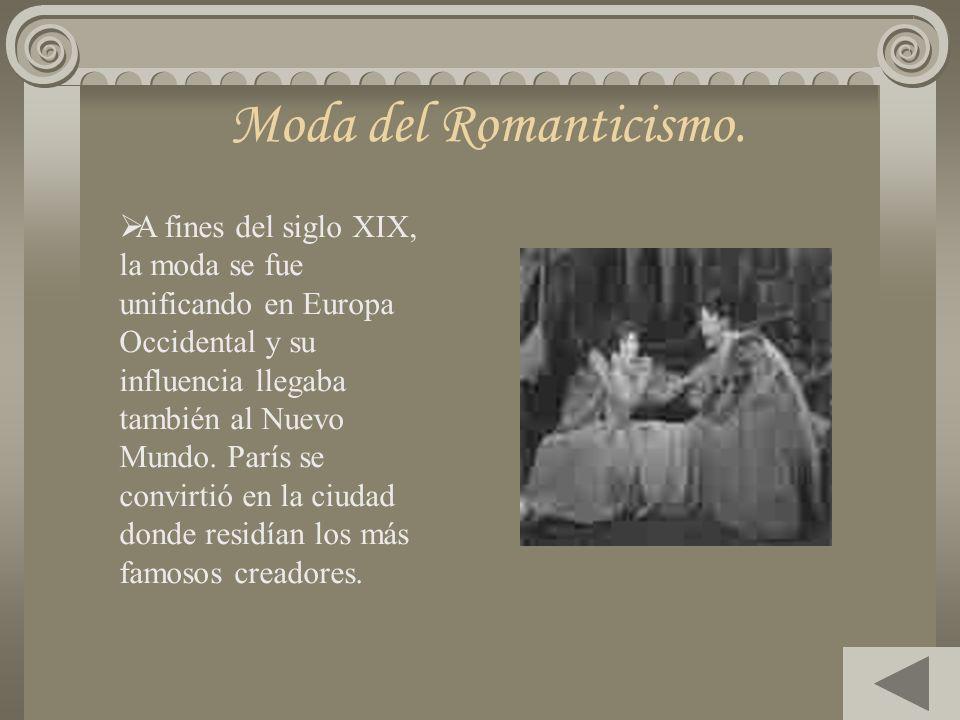 Moda del Romanticismo.