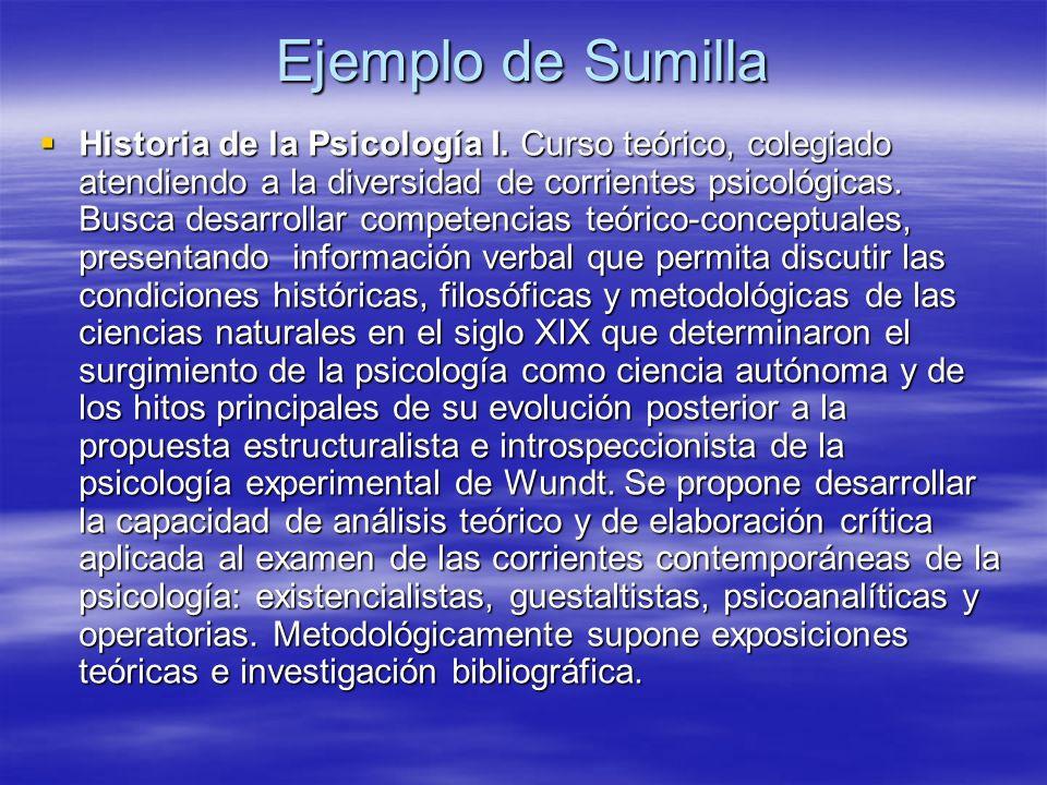 Ejemplo de Sumilla