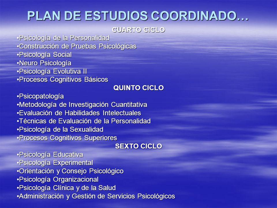 PLAN DE ESTUDIOS COORDINADO…