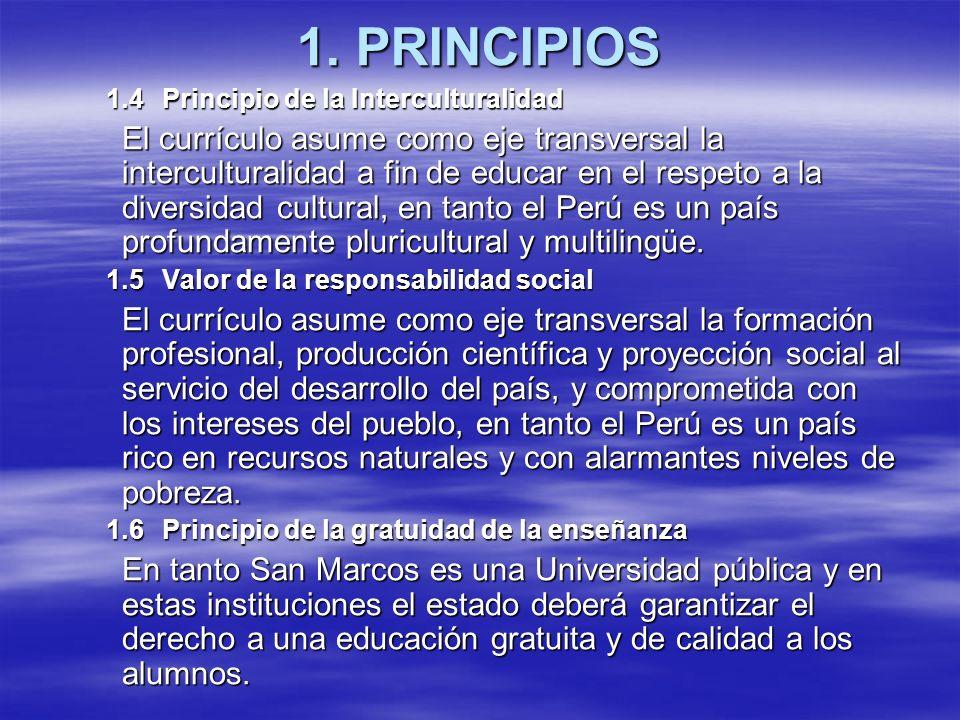 1. PRINCIPIOS 1.4 Principio de la Interculturalidad.