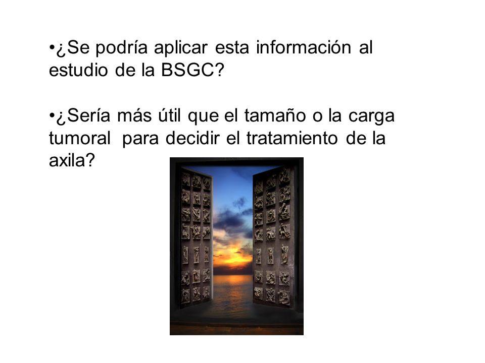 ¿Se podría aplicar esta información al estudio de la BSGC