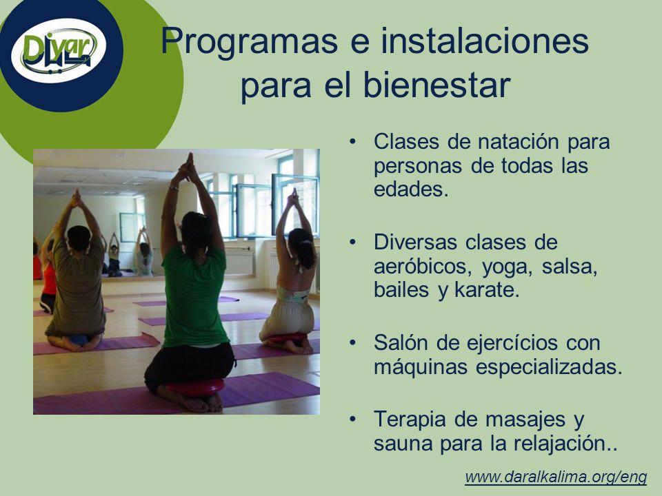 Programas e instalaciones para el bienestar