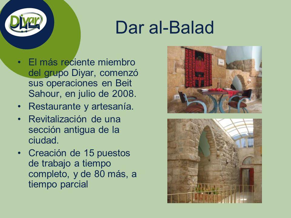 Dar al-Balad El más reciente miembro del grupo Diyar, comenzó sus operaciones en Beit Sahour, en julio de 2008.