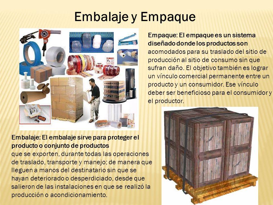 Embalaje y Empaque Empaque: El empaque es un sistema diseñado donde los productos son.