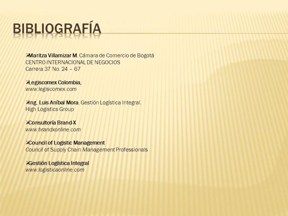 Bibliografía Maritza Villamizar M. Cámara de Comercio de Bogotá