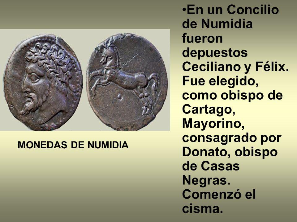 En un Concilio de Numidia fueron depuestos Ceciliano y Félix