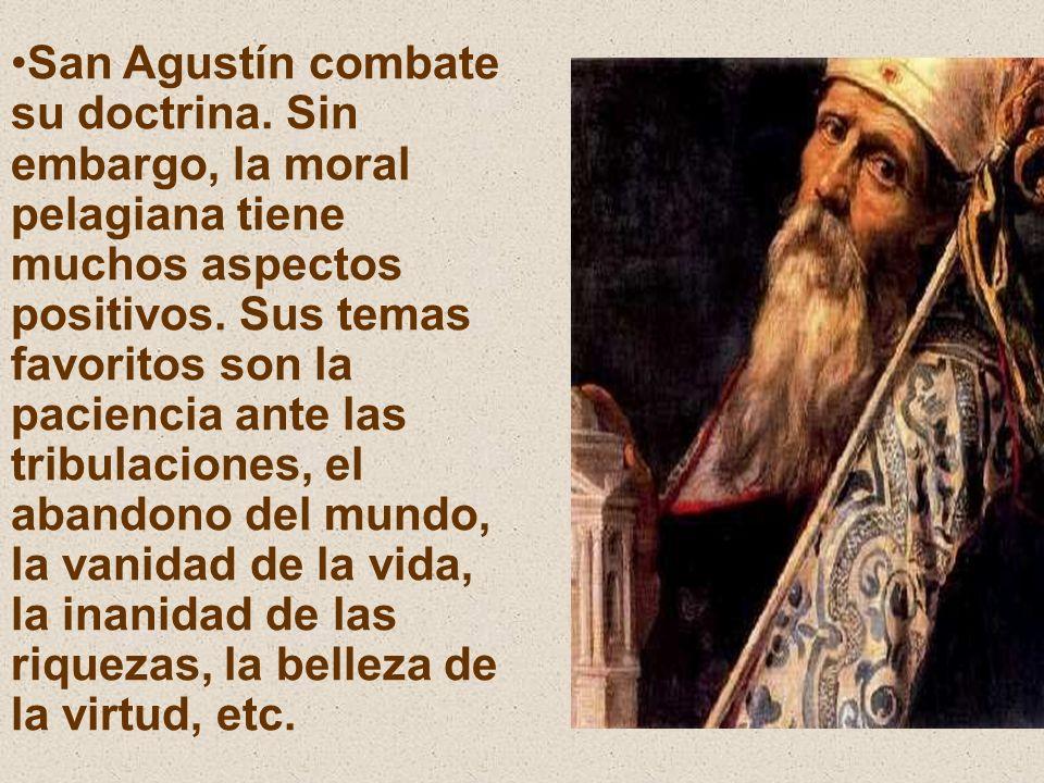 San Agustín combate su doctrina