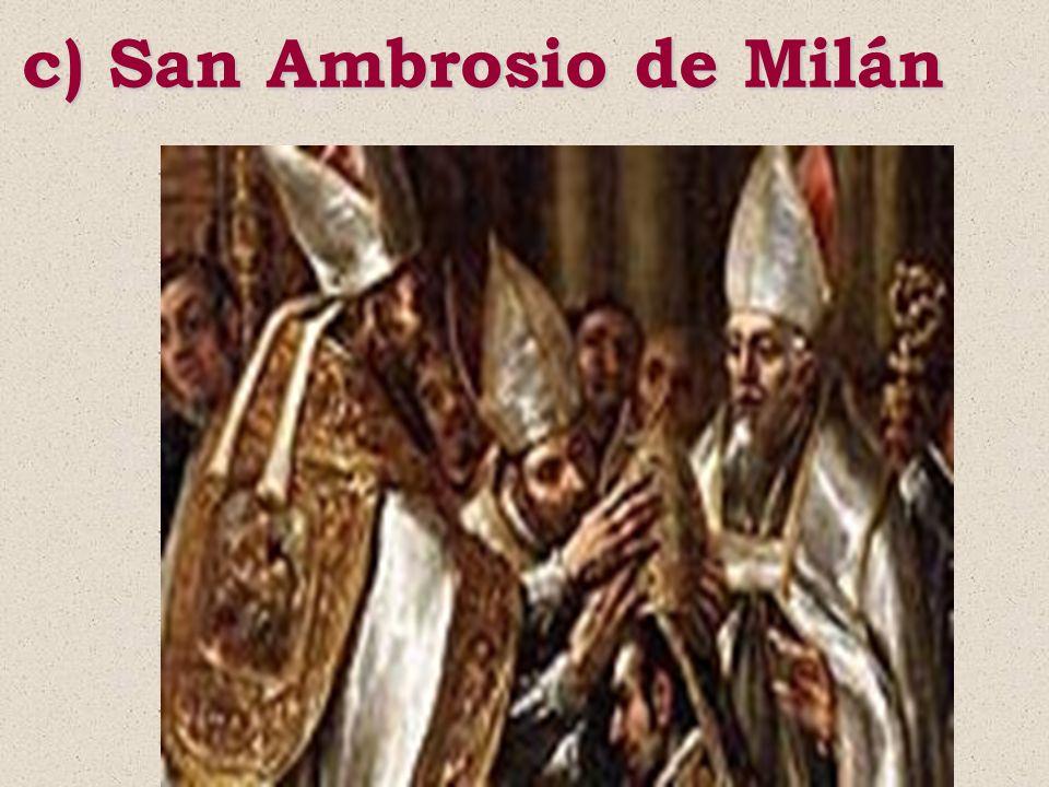 c) San Ambrosio de Milán
