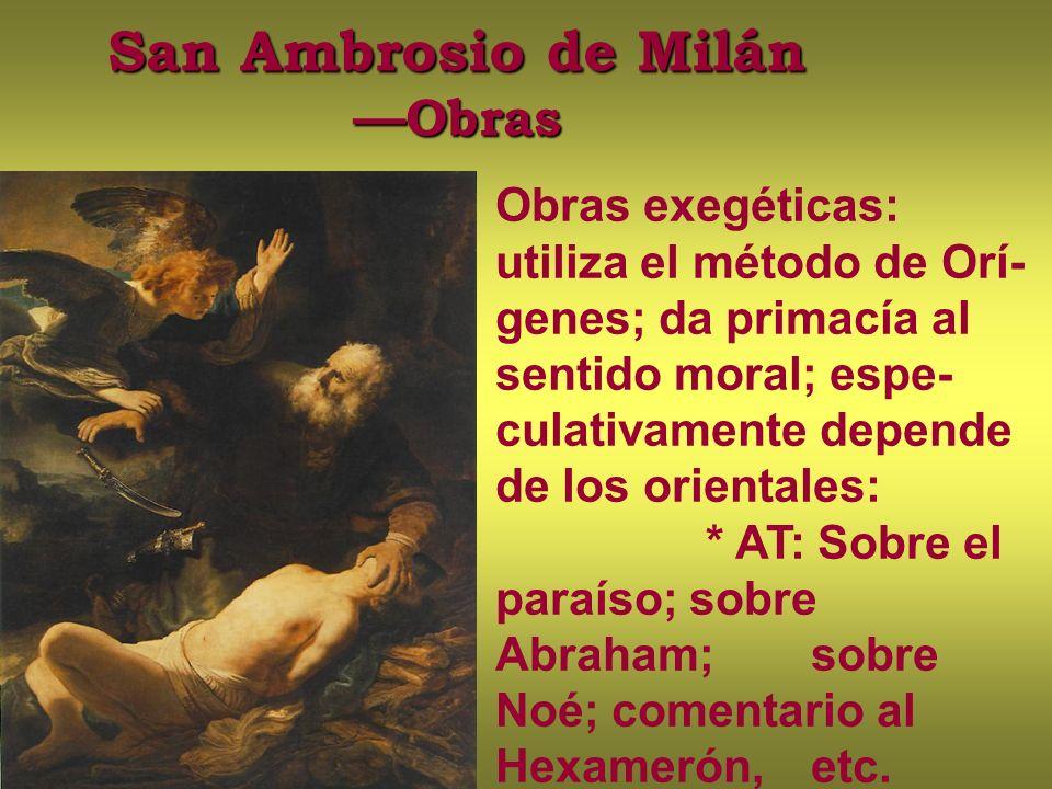 San Ambrosio de Milán —Obras