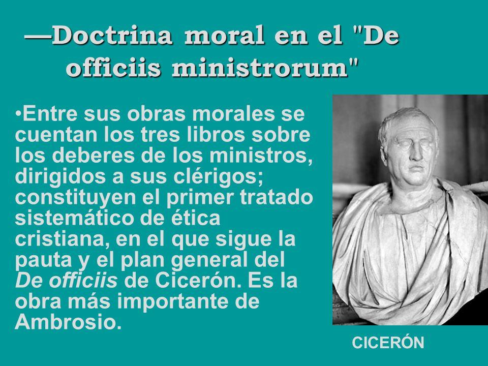 —Doctrina moral en el De officiis ministrorum