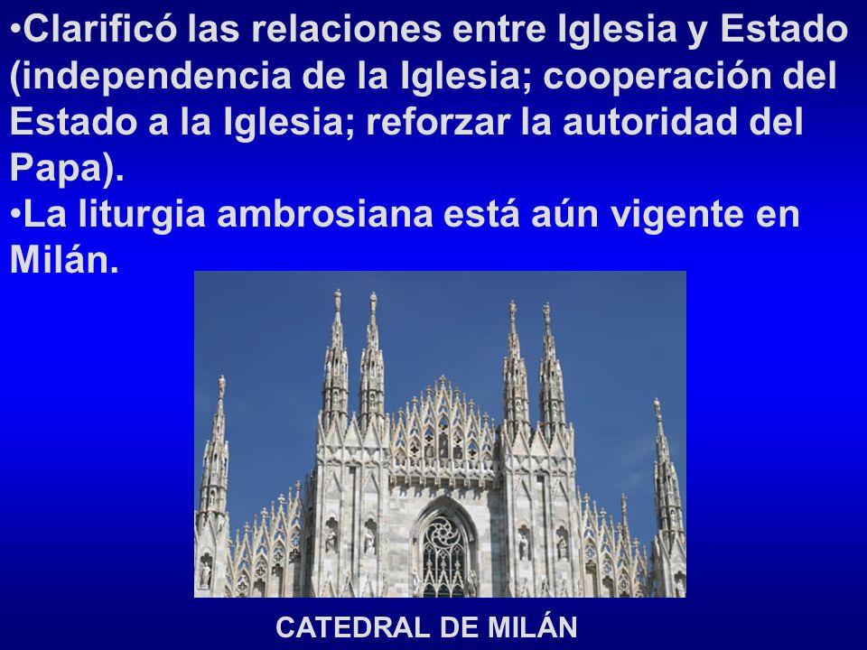 La liturgia ambrosiana está aún vigente en Milán.