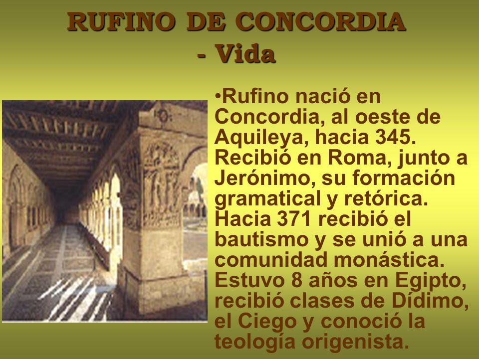 RUFINO DE CONCORDIA - Vida