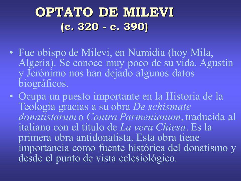 OPTATO DE MILEVI (c. 320 - c. 390)