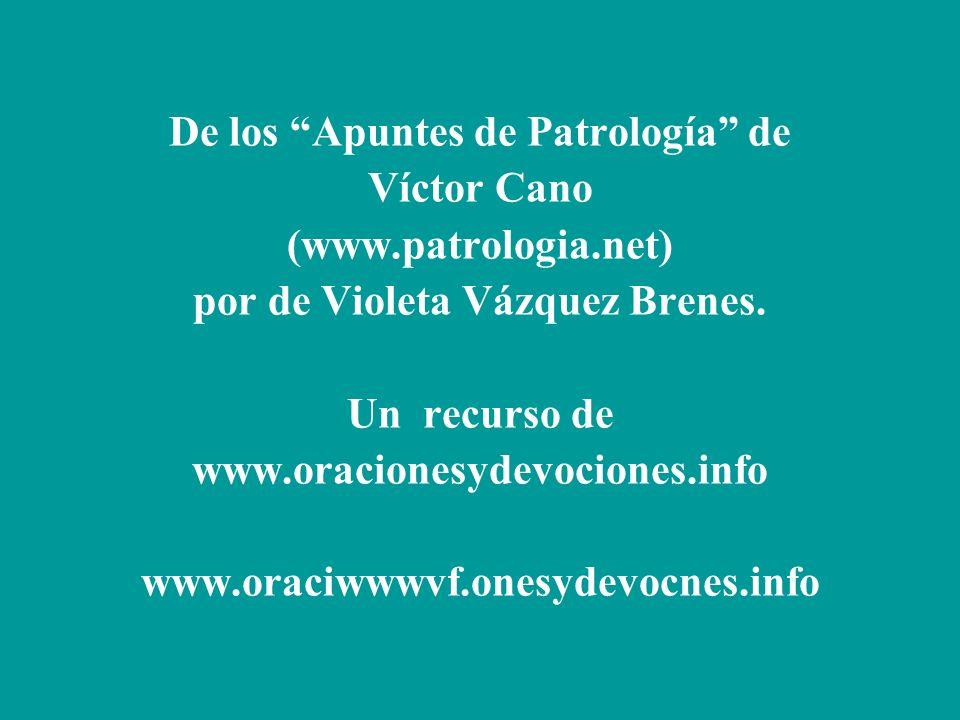 De los Apuntes de Patrología de por de Violeta Vázquez Brenes.