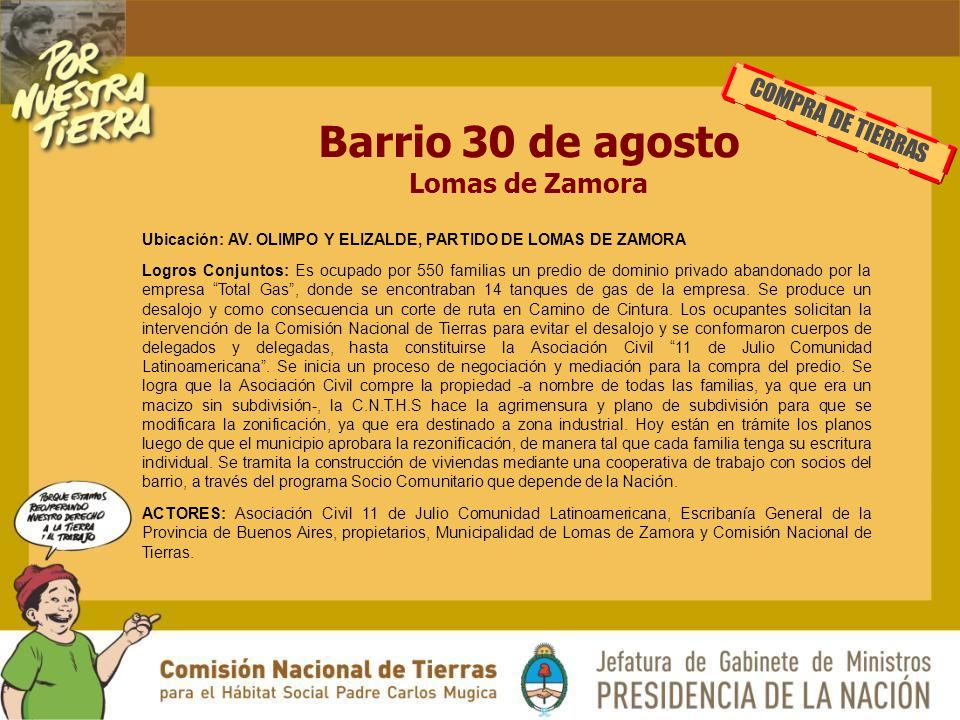 Barrio 30 de agosto Lomas de Zamora