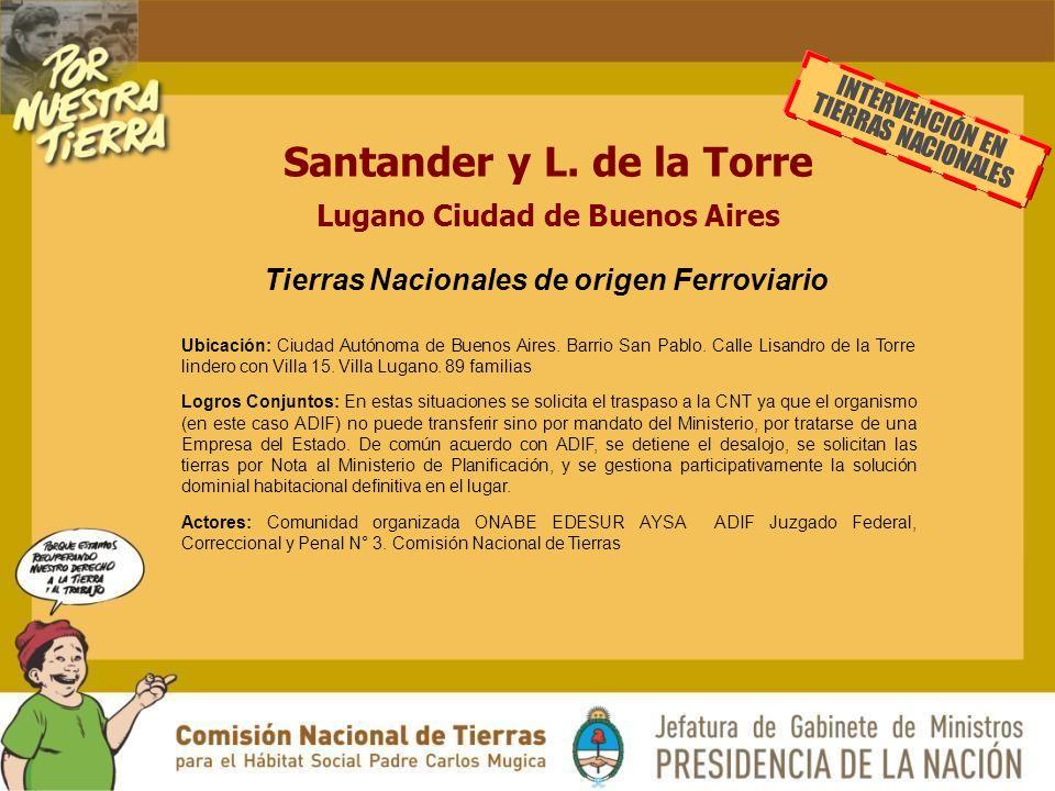 Santander y L. de la Torre Lugano Ciudad de Buenos Aires